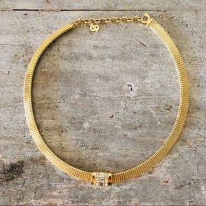 ♥️ Dior ♥️ Gold & Diamond Collared Necklace